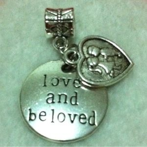 Love & Believe Heart Charm Fit Pandora Bracelet